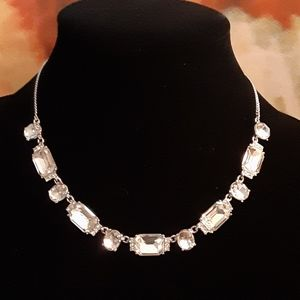 GIVENCHY PAVE AND STONE COLLAR NECKLACE